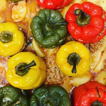 Gemista - gevulde paprika